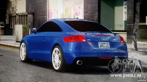 Audi TT RS Coupe v1.0 pour GTA 4 Vue arrière de la gauche