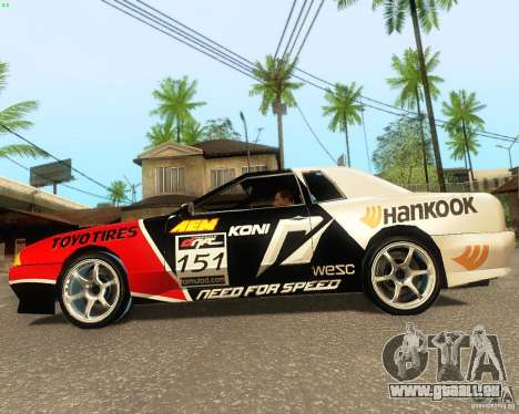Need for Speed Elegy pour GTA San Andreas vue intérieure