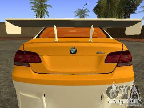 BMW M3 E92 DriftRoots pour GTA San Andreas sur la vue arrière gauche