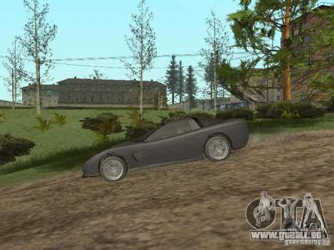 Guépard de GTA 4 pour GTA San Andreas sur la vue arrière gauche