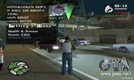 Gun Seller pour GTA San Andreas quatrième écran