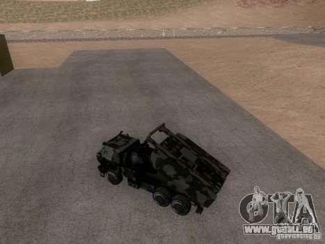 M142 HIMARS Artillery pour GTA San Andreas sur la vue arrière gauche