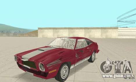 Ford Mustang II 1976 Cobra v. 1.01 pour GTA San Andreas vue intérieure