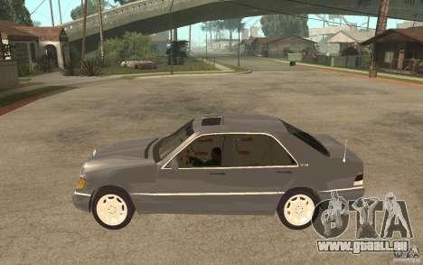 Mercedes-Benz S600 W140 pour GTA San Andreas laissé vue