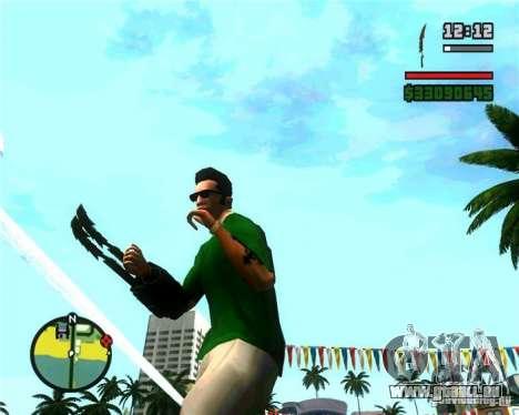 Les griffes d'un prédateur pour GTA San Andreas troisième écran