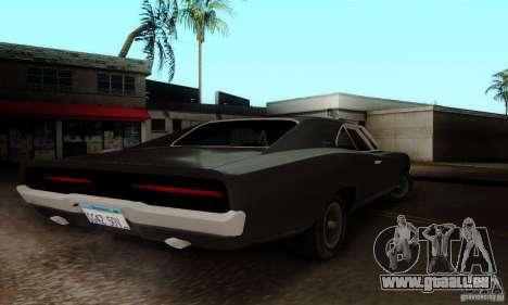 Dodge Charger RT pour GTA San Andreas sur la vue arrière gauche