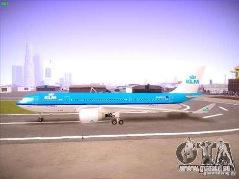 Airbus A330-200 KLM Royal Dutch Airlines für GTA San Andreas Rückansicht