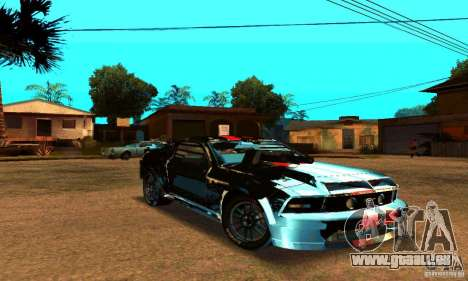 Ford Mustang Shelby GT500 From Death Race Script für GTA San Andreas Innenansicht
