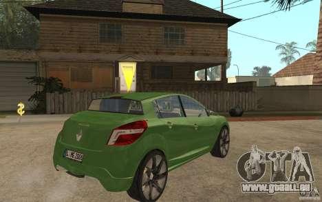 Renault Megane III pour GTA San Andreas vue de droite