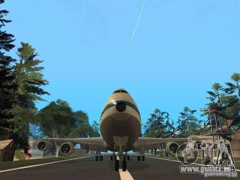 Boeing 747-100 Pan American Airways für GTA San Andreas Rückansicht