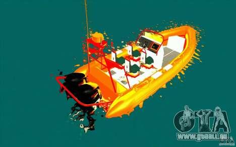 Inferno orange pour GTA San Andreas sur la vue arrière gauche