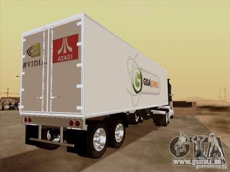 Caband trailer pour GTA San Andreas sur la vue arrière gauche