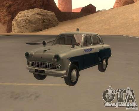 Moskvitsch 403 mit der Polizei für GTA San Andreas