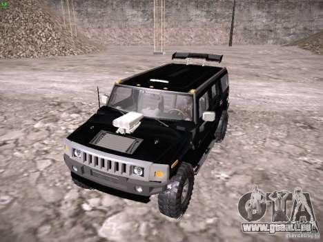 Hummer H2 pour GTA San Andreas vue arrière