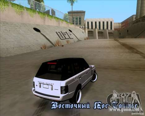 Range Rover Hamann Edition pour GTA San Andreas salon