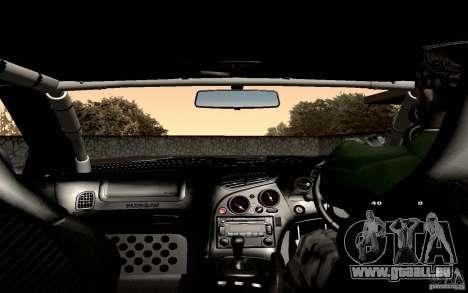 Mazda RX-7 Hellalush für GTA San Andreas Unteransicht