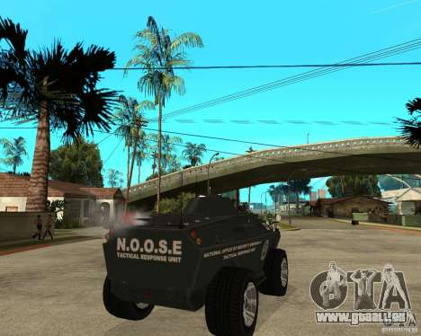 L'APC de GTA IV pour GTA San Andreas sur la vue arrière gauche