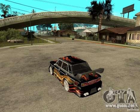 Mélodie de VAZ 2106 GTX pour GTA San Andreas sur la vue arrière gauche