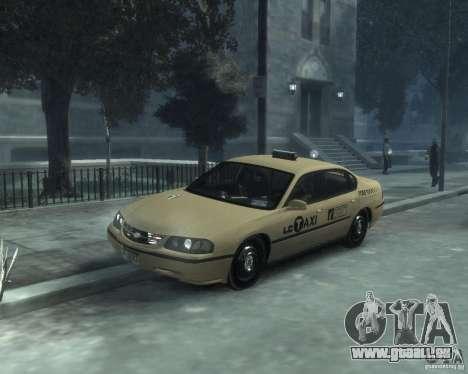 Chevrolet Impala 2003 Taxi pour GTA 4 est une gauche