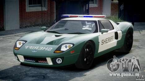 Ford GT1000 Hennessey Police 2006 [EPM][ELS] pour GTA 4 Vue arrière