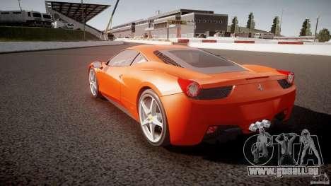 Ferrari 458 Italia 2010 für GTA 4 Seitenansicht