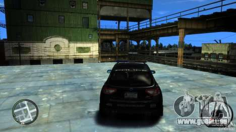Subaru Impreza WRX STI Police pour GTA 4 Vue arrière