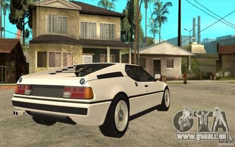 BMW M1 1981 für GTA San Andreas rechten Ansicht