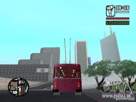 ZIU 682GM 1 pour GTA San Andreas sur la vue arrière gauche