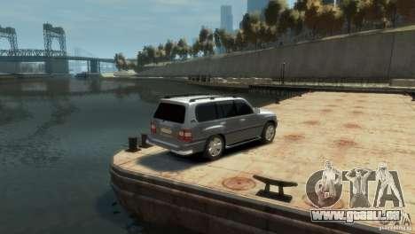 TOYOTA LAND CRUISER 100 pour GTA 4 Vue arrière de la gauche