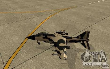 Camo Hydra für GTA San Andreas zurück linke Ansicht