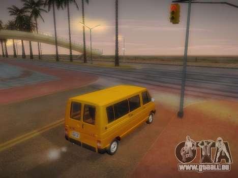 Renault Trafic T1000D Minibus pour GTA San Andreas vue intérieure