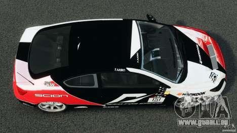Scion TC Fredric Aasbo Team NFS für GTA 4 rechte Ansicht