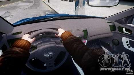 Subaru Legacy B4 GT pour GTA 4 est une vue de dessous