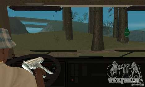 KAMAZ 5460 peau 3 pour GTA San Andreas vue intérieure