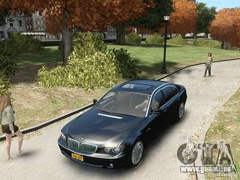 BMW 7 Series E66 2011 für GTA 4 Rückansicht