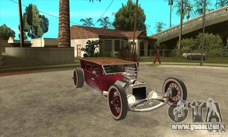 HotRod sedan 1920s no extra pour GTA San Andreas vue arrière