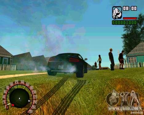 Aston Martin V8 Vantage N400 pour GTA San Andreas sur la vue arrière gauche