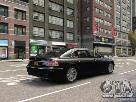 BMW 7 Series E66 2011 pour GTA 4 est un côté