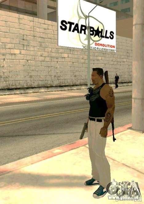 Armes sur les corps pour GTA San Andreas troisième écran