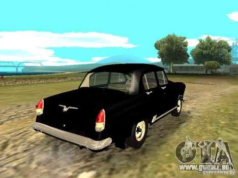 GAZ-21r pour GTA San Andreas sur la vue arrière gauche