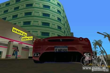 Ferrari F430 Spider 2005 für GTA Vice City rechten Ansicht