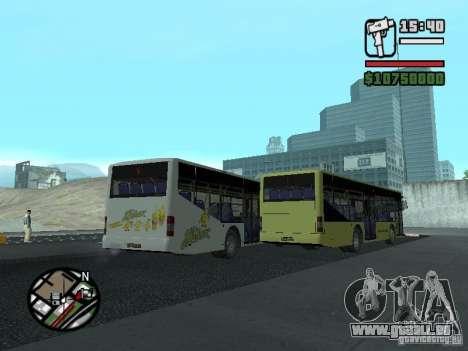 LAZ InterLAZ 12 pour GTA San Andreas vue intérieure