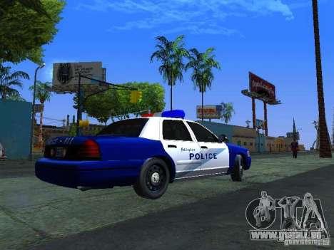 Ford Crown Victoria Belling State Washington für GTA San Andreas zurück linke Ansicht