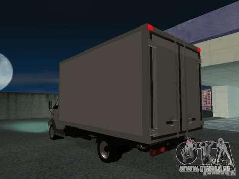 33102 Valday GAZ (long) pour GTA San Andreas sur la vue arrière gauche