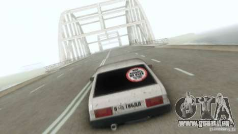 Vaz 2109 Hobo pour GTA San Andreas vue intérieure
