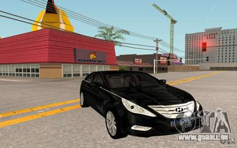 Hyundai Sonata 2012 für GTA San Andreas zurück linke Ansicht