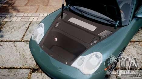 Porsche 911 (996) Carrera 4S pour GTA 4 est une vue de l'intérieur