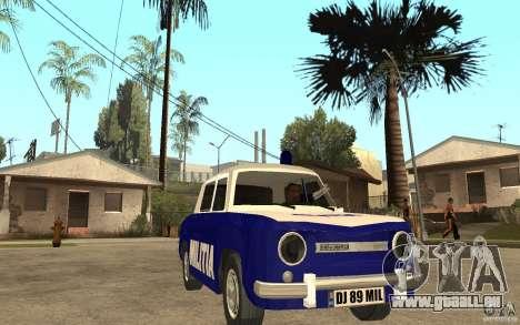 Dacia 1100 Militie pour GTA San Andreas vue arrière