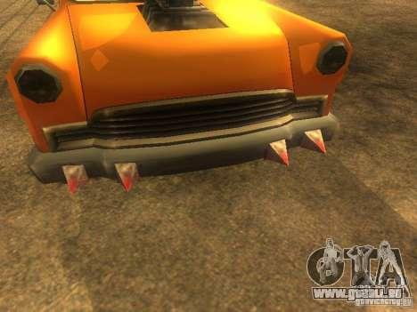 Crazy CABBIE pour GTA San Andreas sur la vue arrière gauche