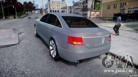 Audi A6 TDI 3.0 pour GTA 4 Vue arrière de la gauche